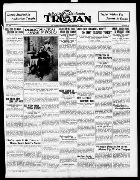 The Southern California Trojan, Vol. 15, No. 46, January 29, 1924