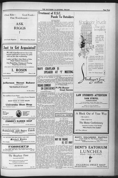 The Southern California Trojan, Vol. 12, No. 38, December 06, 1920