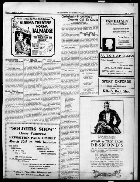 The Southern California Trojan, Vol. 14, No. 66, March 09, 1923