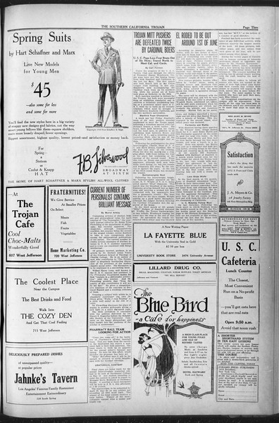 The Southern California Trojan, Vol. 12, No. 67, March 30, 1921