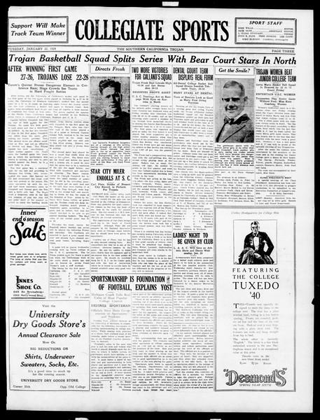 The Southern California Trojan, Vol. 15, No. 44, January 22, 1924