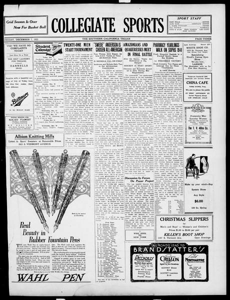 The Southern California Trojan, Vol. 15, No. 30, December 07, 1923