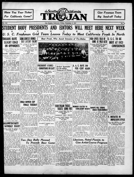 The Southern California Trojan, Vol. 15, No. 18, November 02, 1923