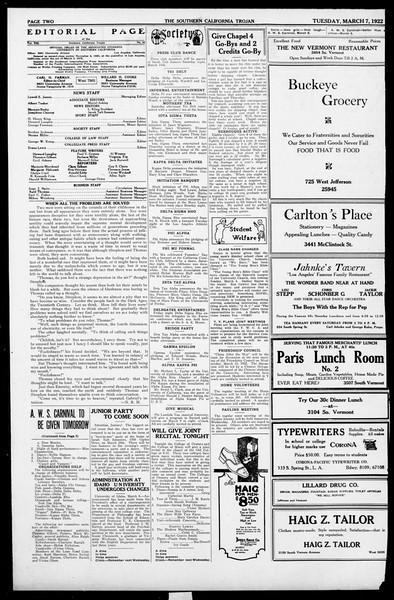 The Southern California Trojan, Vol. 13, No. 50, March 07, 1922