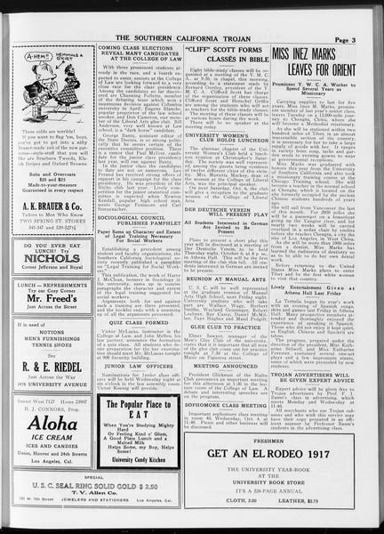 The Southern California Trojan, Vol. 8, No. 9, October 03, 1916