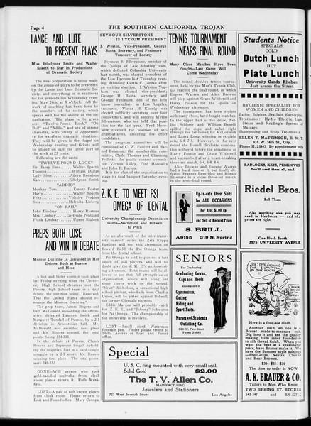 The Southern California Trojan, Vol. 7, No. 117, May 16, 1916