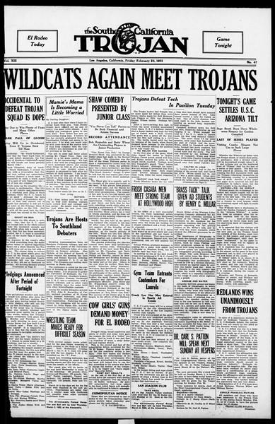 The Southern California Trojan, Vol. 13, No. 47, February 24, 1922