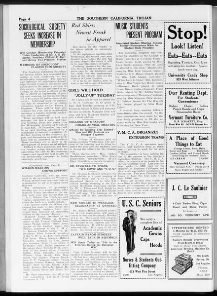 The Southern California Trojan, Vol. 8, No. 12, October 06, 1916