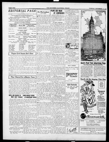 The Southern California Trojan, Vol. 15, No. 21, November 13, 1923