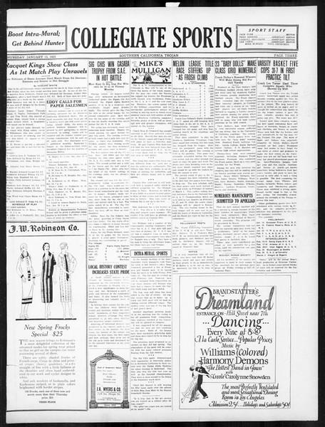 The Southern California Trojan, Vol. 16, No. 40, January 15, 1925