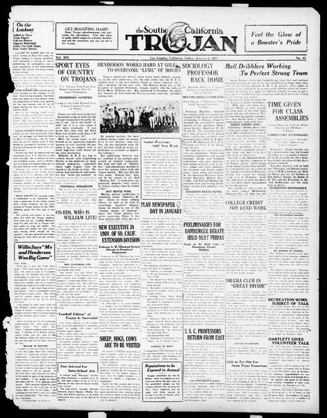 The Southern California Trojan, Vol. 14, No. 43, January 05, 1923