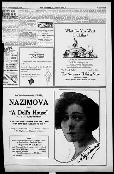 The Southern California Trojan, Vol. 13, No. 42, February 10, 1922