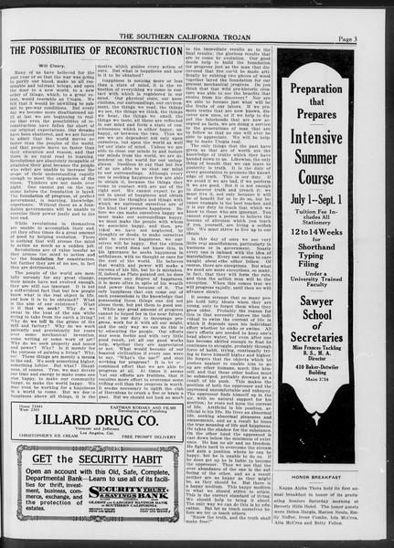 The Southern California Trojan, Vol. 10, No. 29, June 10, 1919