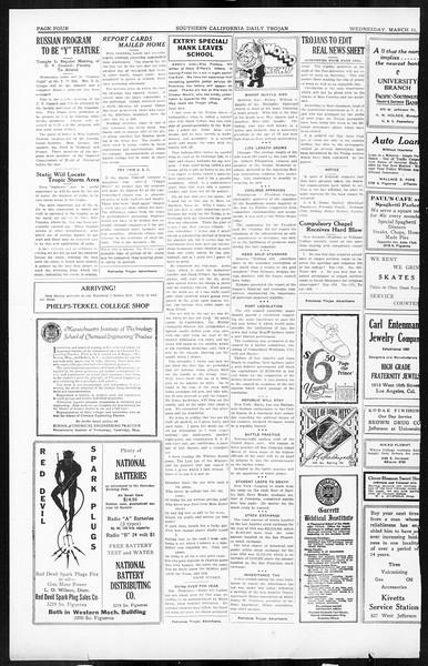 Daily Trojan, Vol. 16, No. 66, March 11, 1925