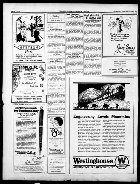 The Southern California Trojan, Vol. 15, No. 2, September 27, 1923