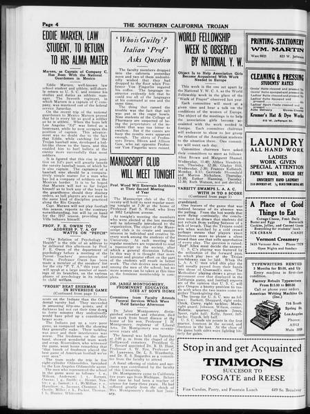 The Southern California Trojan, Vol. 8, No. 31, November 14, 1916