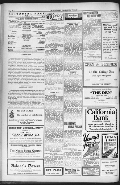 The Southern California Trojan, Vol. 12, No. 50, January 14, 1921