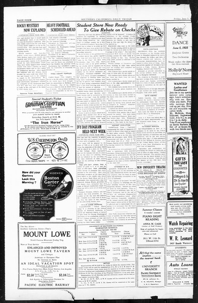 Daily Trojan, Vol. 16, No. 121, June 05, 1925
