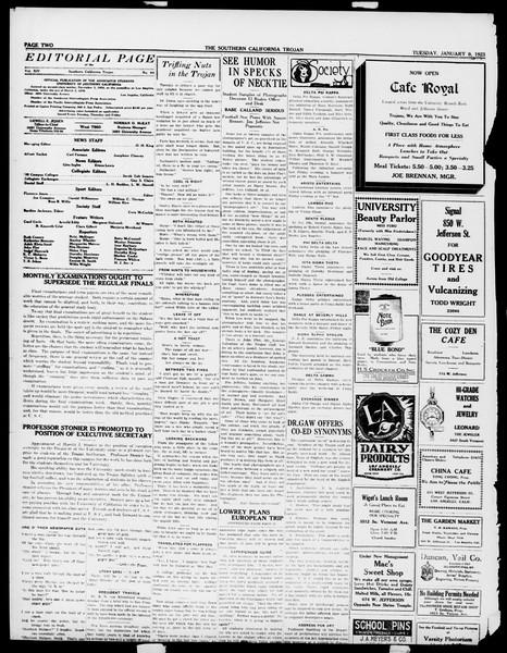 The Southern California Trojan, Vol. 14, No. 44, January 09, 1923