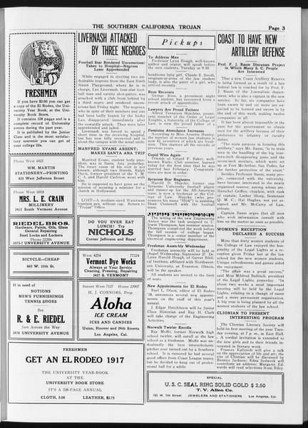 The Southern California Trojan, Vol. 8, No. 5, September 26, 1916