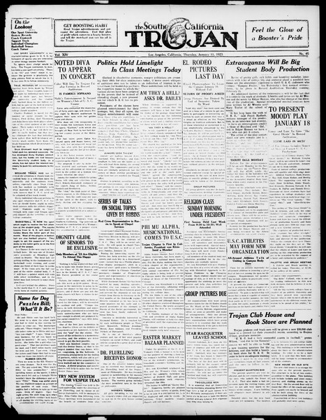 The Southern California Trojan, Vol. 14, No. 45, January 11, 1923