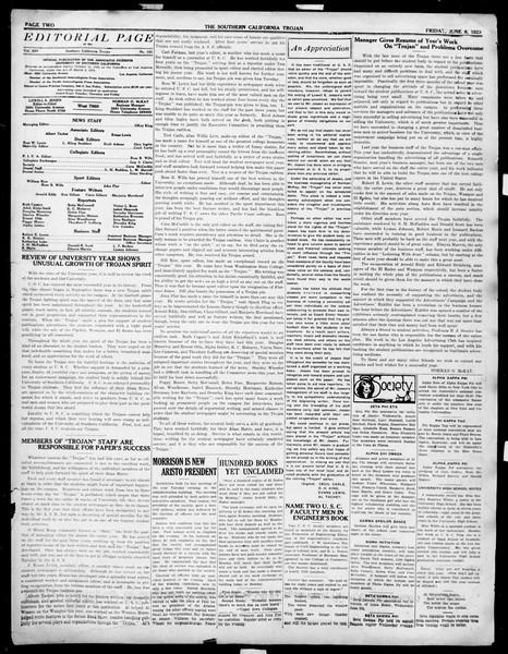 The Southern California Trojan, Vol. 14, No. 101, June 08, 1923
