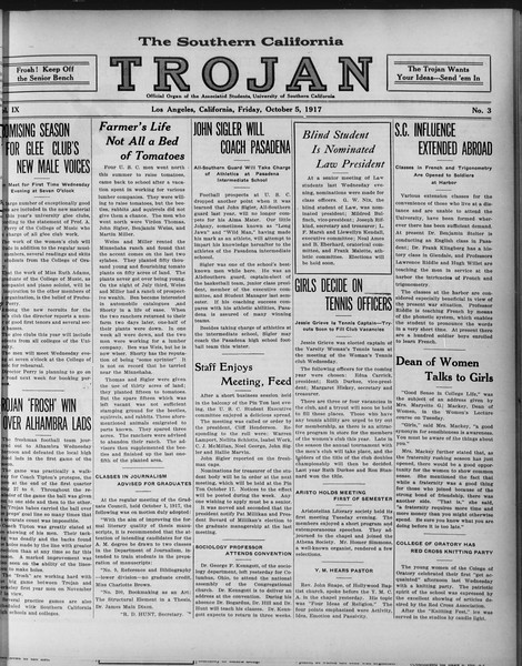 The Southern California Trojan, Vol. 9, No. 3, October 05, 1917