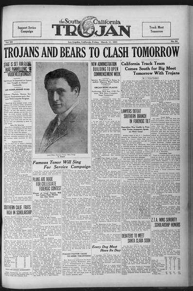 The Southern California Trojan, Vol. 12, No. 64, March 11, 1921