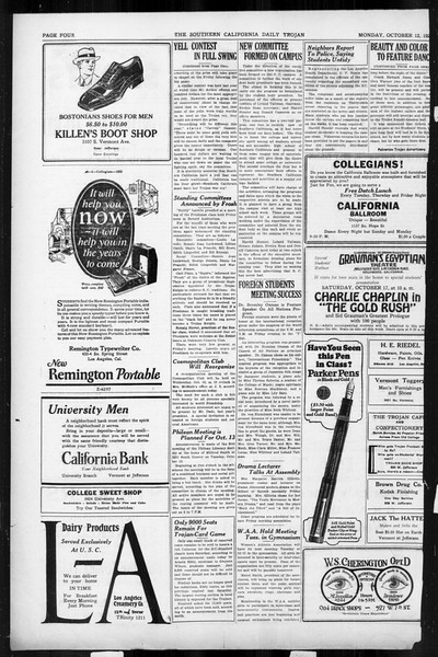 Daily Trojan, Vol. 17, No. 19, October 12, 1925