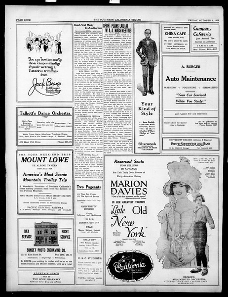 The Southern California Trojan, Vol. 15, No. 6, October 05, 1923