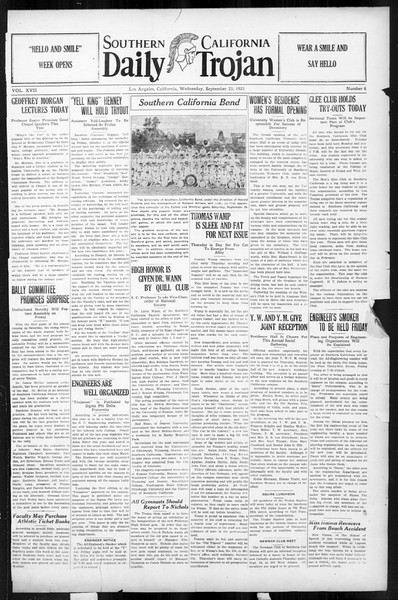Daily Trojan, Vol. 17, No. 6, September 23, 1925