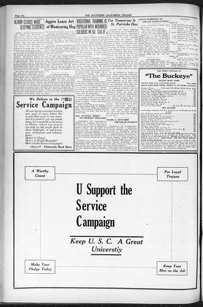 The Southern California Trojan, Vol. 12, No. 65, March 16, 1921