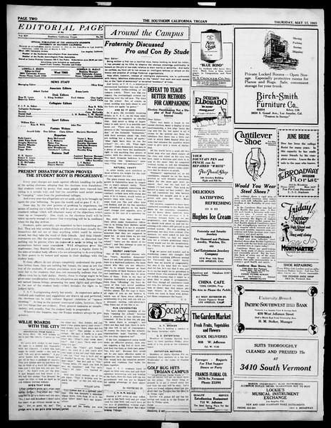 The Southern California Trojan, Vol. 14, No. 92, May 17, 1923