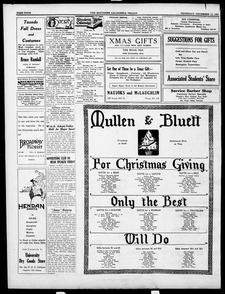 The Southern California Trojan, Vol. 15, No. 32, December 13, 1923