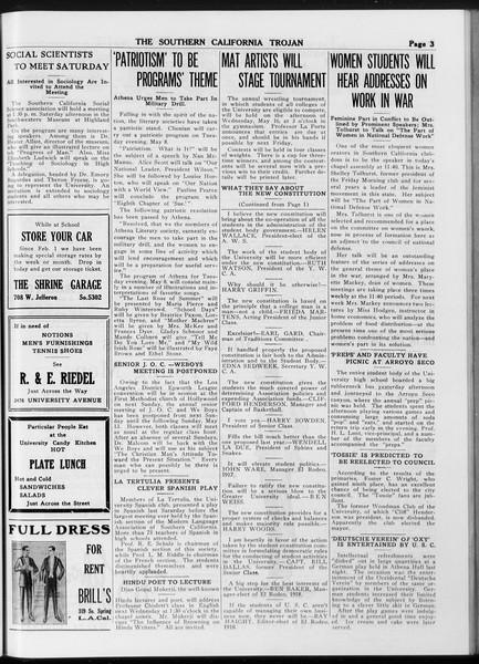 The Southern California Trojan, Vol. 8, No. 107, May 04, 1917