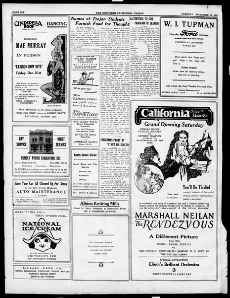 The Southern California Trojan, Vol. 15, No. 35, December 19, 1923
