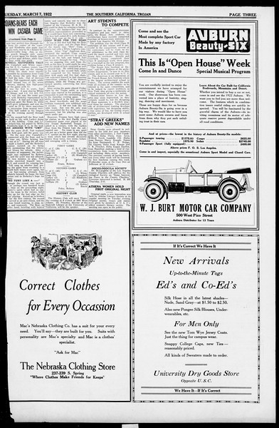 The Southern California Trojan, Vol. 13, No. 50, March 07, 1922