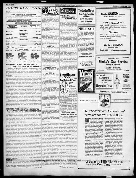 The Southern California Trojan, Vol. 14, No. 64, March 06, 1923