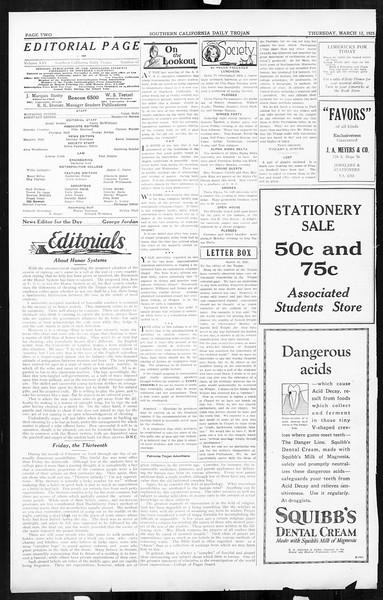 Daily Trojan, Vol. 16, No. 67, March 12, 1925
