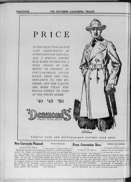 The Southern California Trojan, Vol. 11, No. 39, January 07, 1920