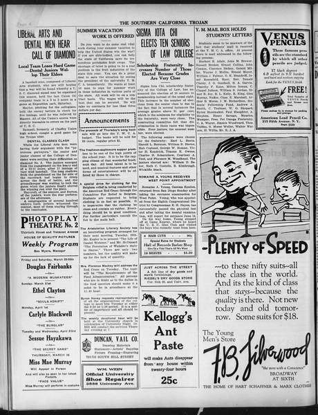The Southern California Trojan, Vol. 9, No. 37, March 26, 1918