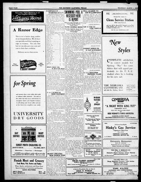 The Southern California Trojan, Vol. 14, No. 62, March 01, 1923