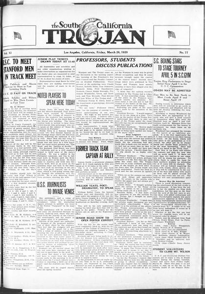 The Southern California Trojan, Vol. 11, No. 77, March 26, 1920