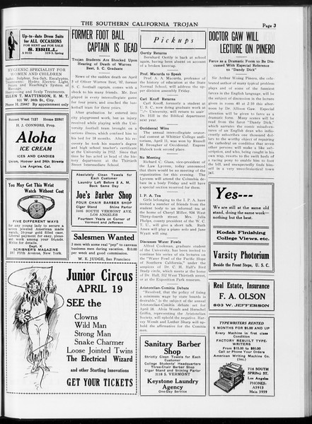 The Southern California Trojan, Vol. 7, No. 99, April 13, 1916