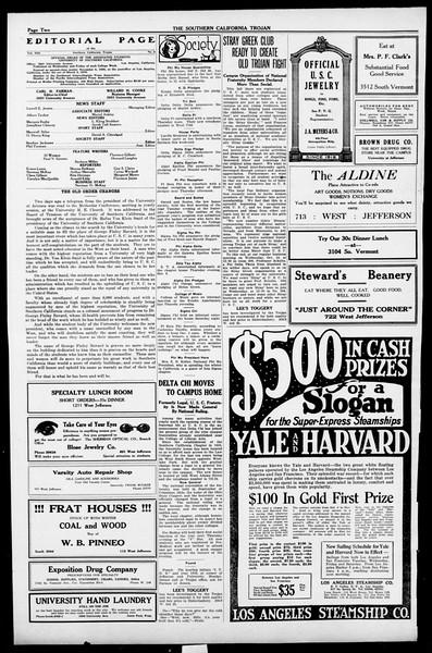 The Southern California Trojan, Vol. 13, No. 8, October 12, 1921