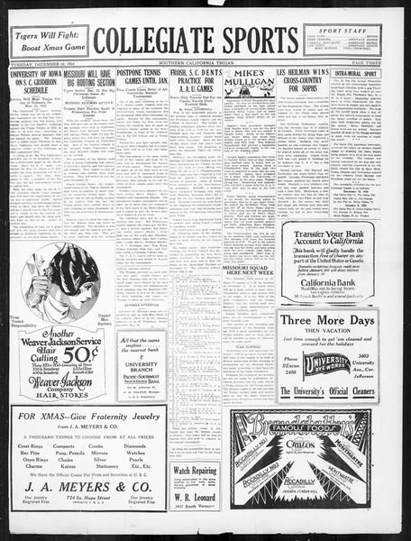 The Southern California Trojan, Vol. 16, No. 33, December 16, 1924
