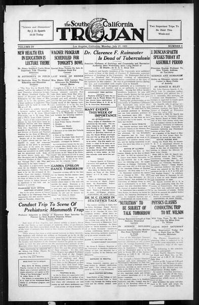 The Southern California Trojan, Vol. 4, No. 9, July 27, 1925