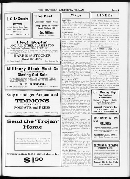 The Southern California Trojan, Vol. 8, No. 50, January 05, 1917