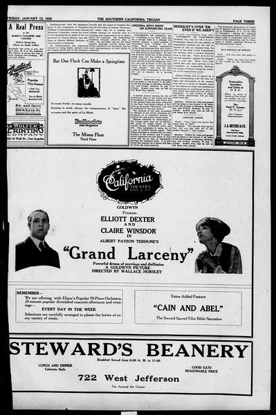 The Southern California Trojan, Vol. 13, No. 36, January 13, 1922