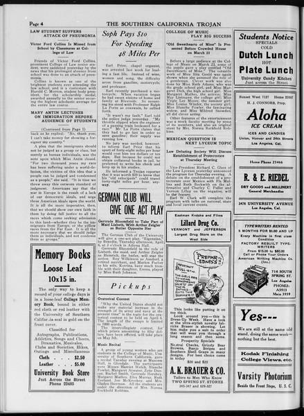 The Southern California Trojan, Vol. 7, No. 94, April 05, 1916